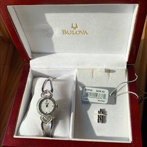 Bulova Crystal/Silver Watch (rare)